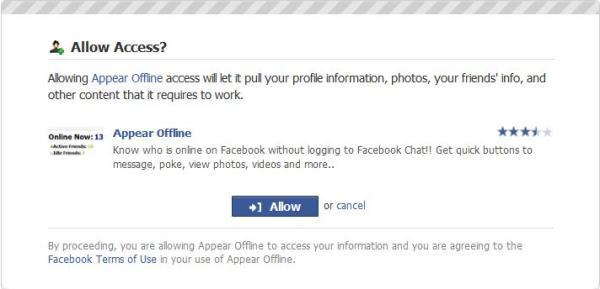 appear offline